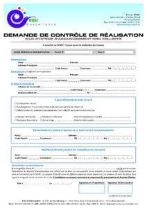 SPANC Demande de contrôle de réalisation