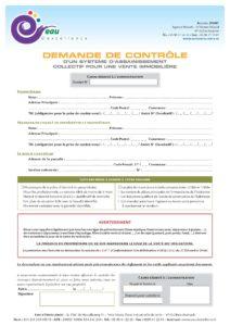 SPANC Demande de contrôle vente AC