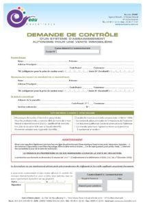 SPANC Demande de contrôle vente ANC